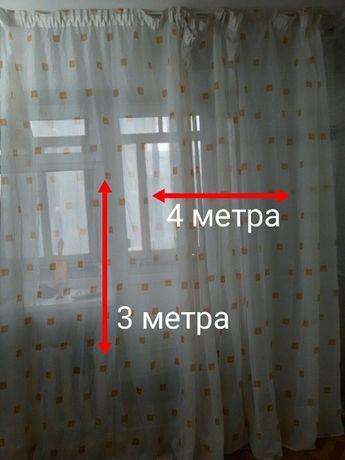 Тюль . тюль на окна длина 3 метра / ширина 4 метра