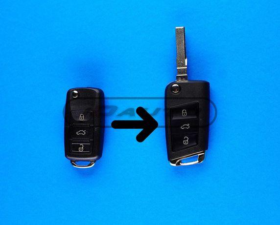 Кутийка ключ за Vw конвертираща / автоключ / 1,9tdi / Seat / Skoda