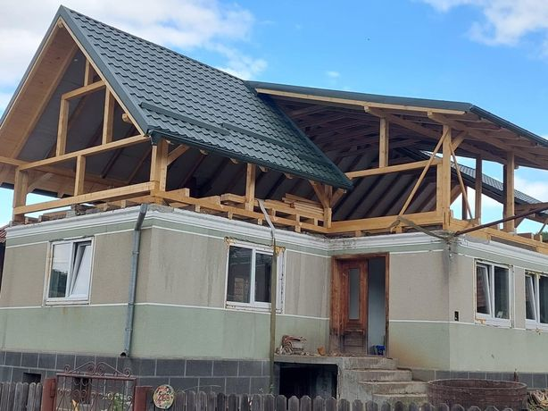 Montaj acoperișuri dulgherii Mansardari reparatii jgheaburi