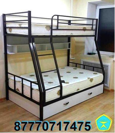 Прочная и устойчивая двухъярусная кровать для взрослых (двухярусная).
