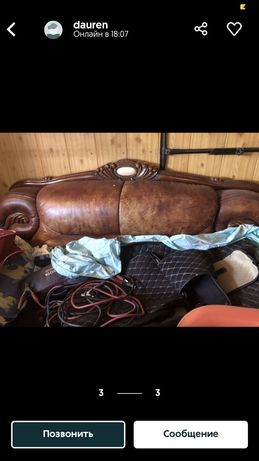 продается кожаный диван в хорошоем сост,