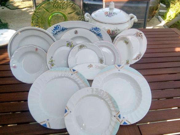 Сервиз от 18 части,чинии големи,малки,супник и елипсите продадени