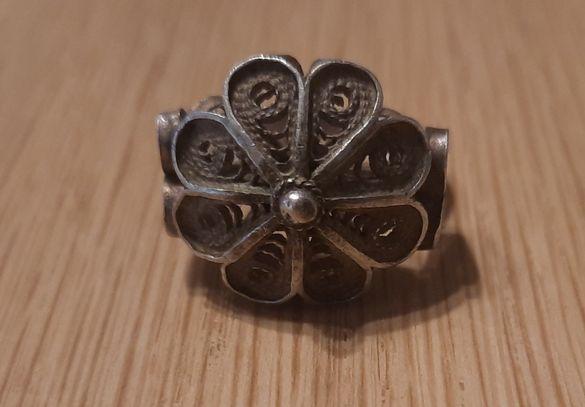 Антични сребърни монети М Тереза 1764 Фердинанд и възрожденски пръстен