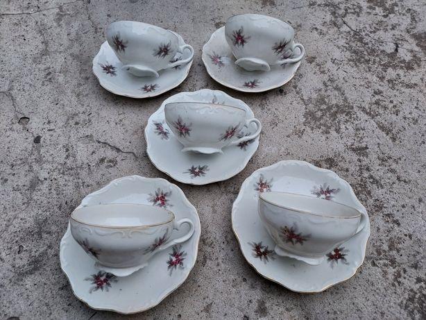 Set 5 cești de ceai porțelan