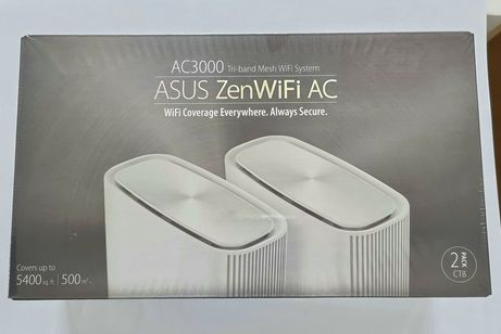 Router wireless Asus ZENWIFI AC /CT8/ AC3000 2 PACK Alb SIGILAT