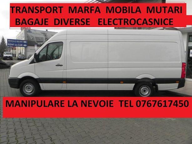 Transport marfa mutari mobila bagaje diverse Ridic moloz Debarasari