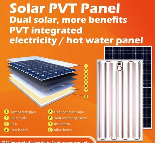 Panouri solare hibride PVT mono perc + panou solar termic 450W