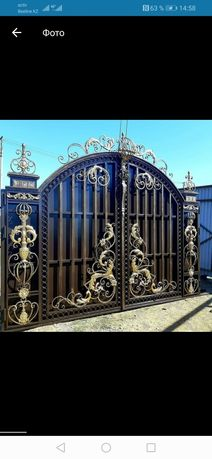 Двери, ворота, решётки, перила, лестницы, скамейки, вольеры, качели.