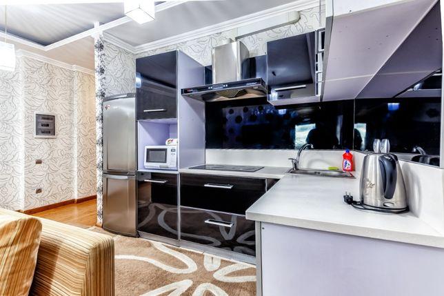 """1-комнатная квартира в ЖК """"Северное сияние"""" 40 этаж, вид на Байтерек"""