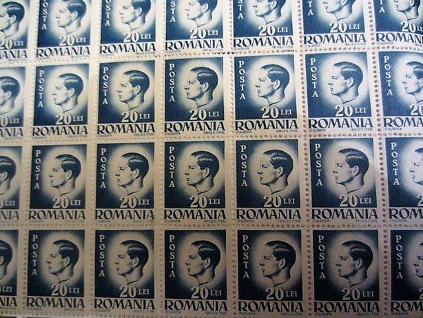 Coala cu 100 timbre Regele Mihai valoare 20