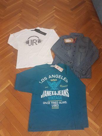 НОВИ детски блузи RICHMOND,WANEX и риза Small Gang ,12 г.момче