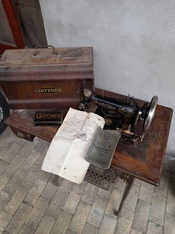 Mașină de cusut Gritzner Durlach foarte veche