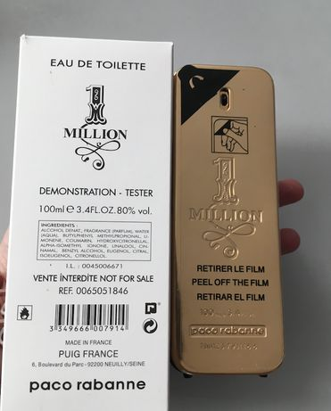 Эффектный Мужской парфюм Paco Rabanne 1 Million 100ml - лучшие ароматы
