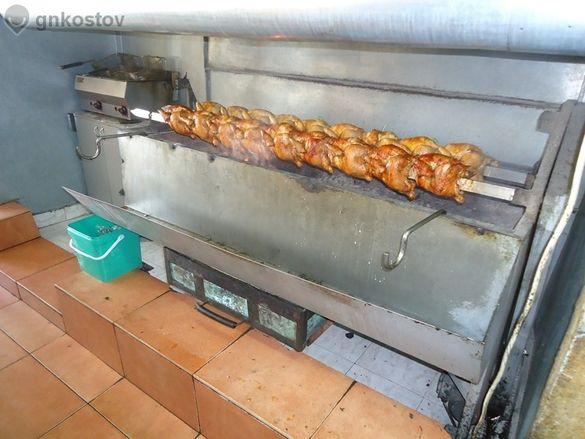 1.грил барбекю за пилета на жар (чеверме), за агънца,прасенца,пилета,с
