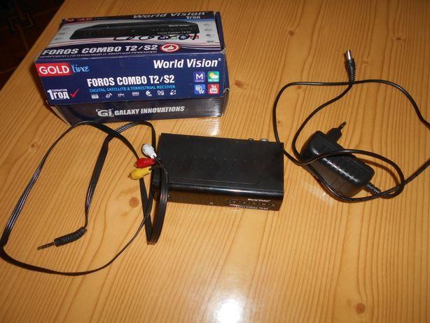 цифровой спутниковый и эфирный приемник Foros combo T2\S2 (ресивер)