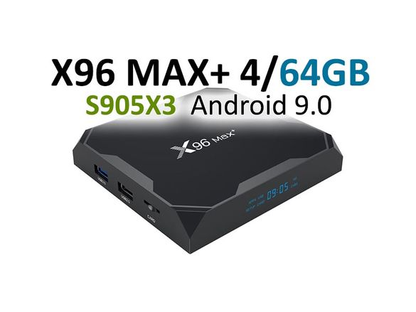 X96 MAX+ TV Box - 4GB/64GB, Amlogic S905X3, Android 9, 1Gbit - ТВ Бокс