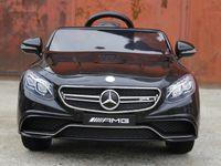 Masinuta electrica pentru copii Mercedes S63 2x35W 12V NOUA #Negru