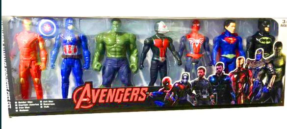 Големи Фигурки 7 броя Спайдермен,Хълк,Батман,Америка,Железният човек