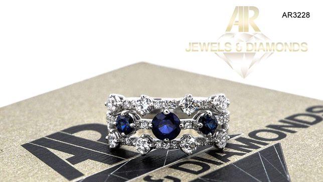 Inel Aur Alb cu Diamant model nou ARJEWELS(AR3228)