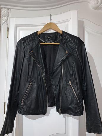 Куртка кожанная Massimo Dutti (Размер XS/S)