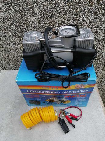 Мощен компресор за гуми -12v- с 2 БУТАЛА( за автомобили и джипове)