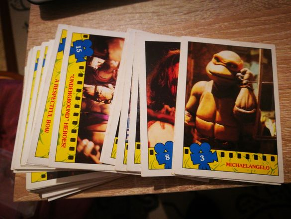 Topps карти костенурките нинджа TMNT