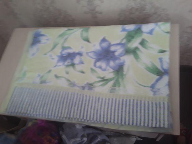 Полотенце постель широкая махра хб.