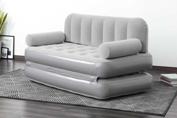 НОВ Луксозен надуваем диван с вградена помпа 1.88м-1.52м-64см