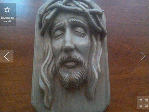 ISUS sculptură în Lemn, lucrată manual