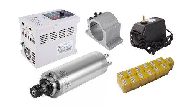 Set Freza 2.2 kW, Invertor 220V, Suport, Pompa Racire, 13 Pensete ER20