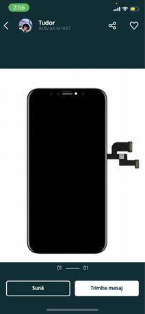 Display Apple iPhone X, IPS LCD 5.8 inch, cu Touchscreen si Rama, Gori