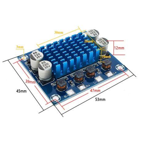 Kit modul AMPLIFICATOR AUDIO stereo auto 2 x 30 w clasa D ieftin 12V