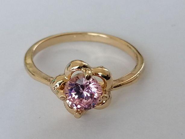 GPA31, inel placat aur 14k, model logodna, zirconiu alb/roz/crem