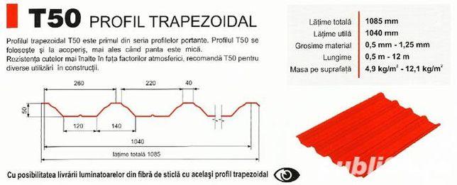 TABLĂ cutata trapezoidala T-55 T-35 T 60 HALe METALICA