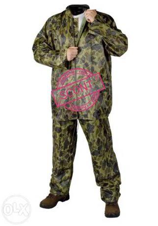 Compleu ploaie camuflaj jachetă și pantaloni