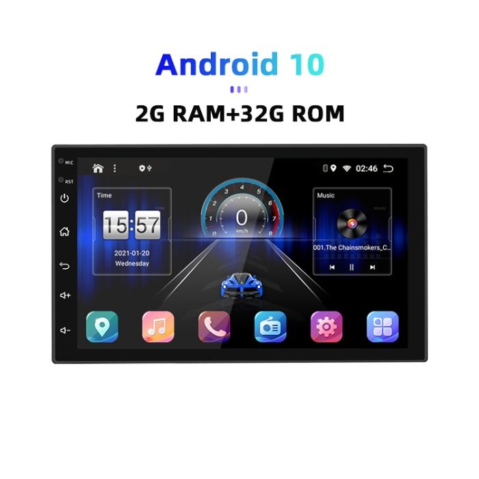 Navigatie Android 10 -2Gb/32Gb cu IPS ,DSP,RDS, CarPlay, Android Auto. Bucuresti - imagine 1