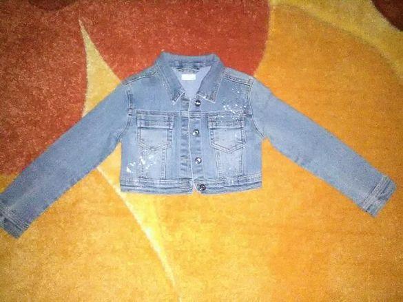 момичешко дънково якенце