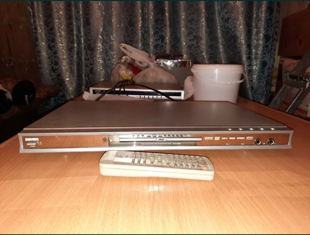 DVD SEVEN, Спутниковый Модем +  Пульт управления, Телевизор Подставка