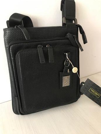 Стилна мъжка чанта Armani от естествена кожа 8