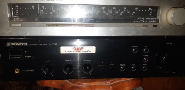 Amplificator stereo Pioneer plus tuner stereo JVC