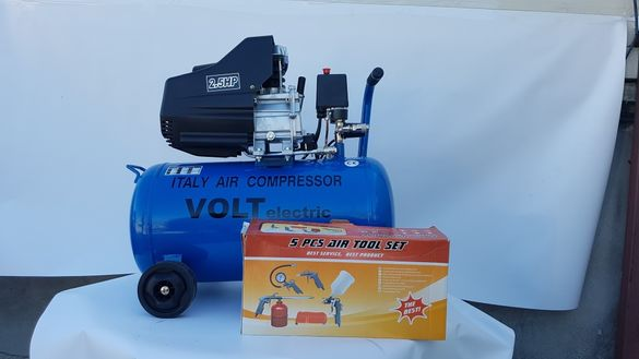 5в1 сет Компресор за въздух 25л Volt Electric