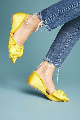 Летние Туфли из ткани с бантом