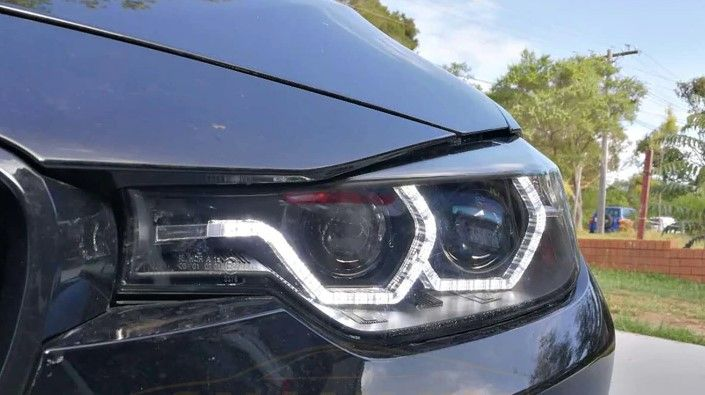 Faruri LED BMW F30/F31 (11-14) Black Angel eyes 3D Suceava - imagine 1