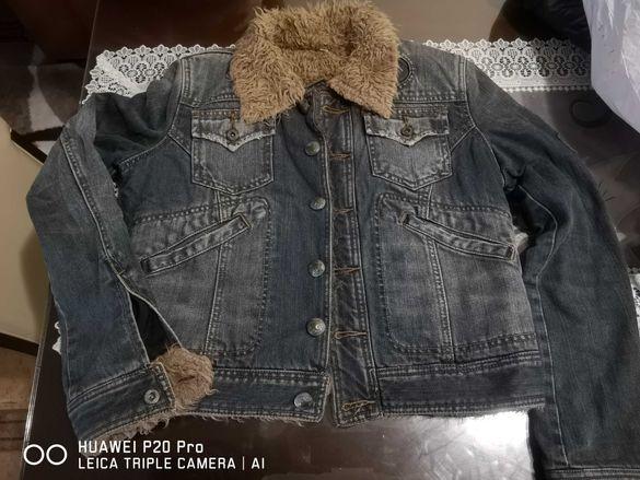 Зимно дънкено яке