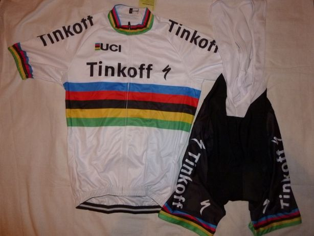 Echipament ciclism tinkoff world champion set pantaloni tricou
