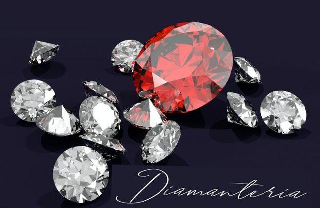 Cercei din aur  14/18k cu diamante naturale la comanda