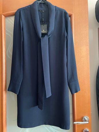 Rochie albastra Massimo Dutti
