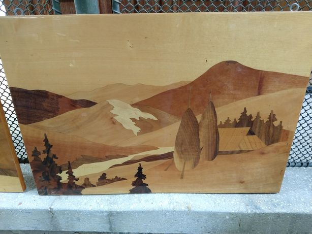 Tablou intarsie lemn