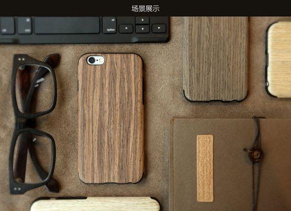 2Дървен кейс от естествено дърво и каучук за iPhone 5, SE, 6, 7, 7Plus