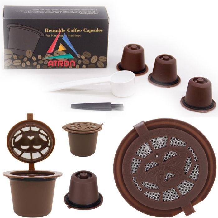 Комплект 3 капсули за многократно ползване за кафемашини Nespressо